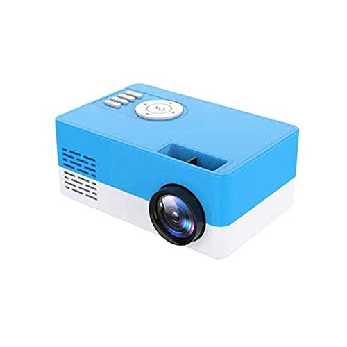 LED Mini Projector, 1080P HD High Lumen Portable Home Media Video Projector, Compatible with HDMI/USB/TF Card/ (Color : Blue)
