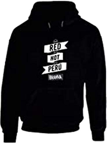 Too Red Hot Peru Chili Peppers Anthony Kiedis Brahma Bier Hoodie Gr. X-Large, Schwarz