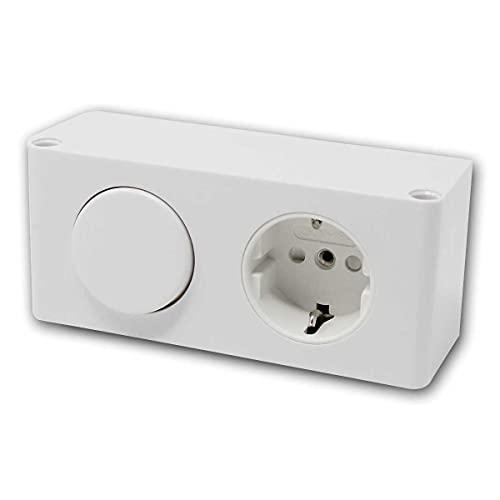 world-trading-net - Enchufe empotrado para muebles con tapa e interruptor de luz, clase de protección IP44, adecuado para baños o garajes
