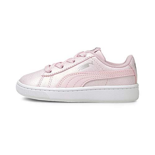 Puma Vikky V2 Glitz 2 AC INF, Zapatillas Bebé – Niñas, Pink Lady/Pink Lady Silver, 21 EU