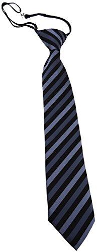TigerTie Security Sicherheits Krawatte anthrazit schwarz gestreift - vorgebunden mit Gummizug