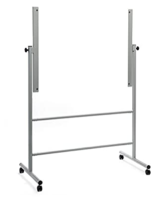 Audio-Visual Direct Glass Dry-Erase Board Mobile Stand (4' x 3') Stand ONLY, Does NOT Include Board