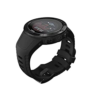 Suunto 5, Lightweight and Compact GPS Sports Watch with 24/7, Activity Tracking and Wrist-Based Heart Rate - All Black (Renewed)