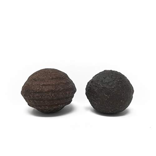 Ein Paar Original Moqui Marbles mit Echtheitszertifikat | Lebende Steine in Premium Qualität | Direkt aus dem Hopi Indianer - Gebiet im Westen der USA | Inklusive PDF Leitfaden (Größe XL 28-38mm)