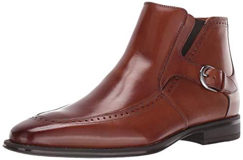 STACY ADAMS Men's Patton Side-Zip Dress Boot Ankle, Cognac, 11 M US