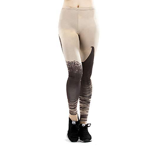 DSCX Leggings Femminili con Stampa di Pantaloni Sportivi da Corsa Elastici a Vita Alta Pantaloni da Yoga Leggings Plus Size Grigio XL