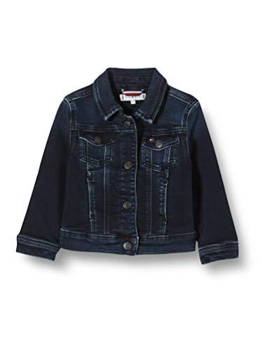 Tommy Hilfiger Mädchen Trucker Girls Ebbst Jacke, Blau (Denim 1Bj), One Size (Herstellergröße: 86)