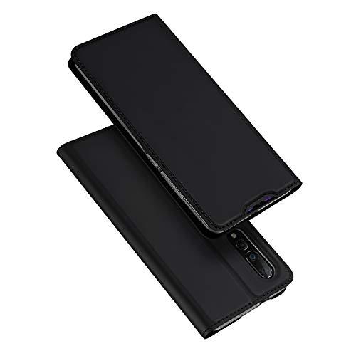 DUX DUCIS Hülle für Xiaomi Mi 9, Leder Flip Handyhülle Schutzhülle Tasche Hülle mit [Kartenfach] [Standfunktion] [Magnetverschluss] für Xiaomi Mi 9 (Schwarz)