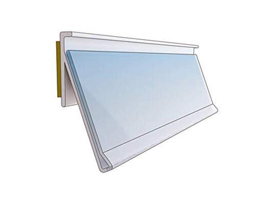 Laden Regal-Schiene Scanner-Schiene weiß Einschub-Höhe x Breite: 39 mm x 100 cm mit Klebeband Kunststoff