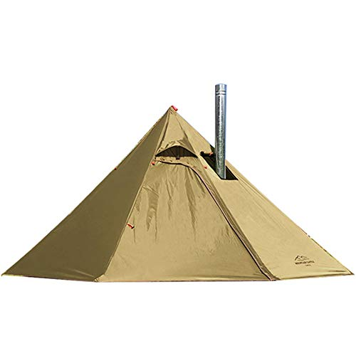 2 Persons Lightweight 3.4lb Tipi Hot Tents with Stove Jack for Hunting Family Team Backpacking Camping Hiking