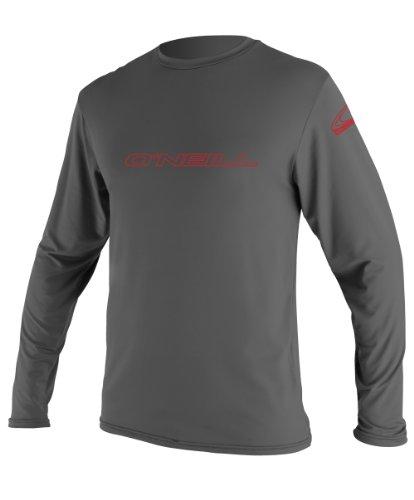 O'Neill Wetsuits Youth Basic Skins UPF 50+ Long Sleeve Sun Shirt, Graphite, 8