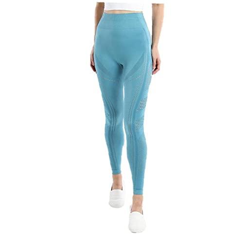 Naisicatar Apretados Pantalones De Yoga Pantalones De La Yoga Mujeres De La Gimnasia Polainas Los Pantalones De Estiramiento para La Ejecución De Entrenamiento Azul L