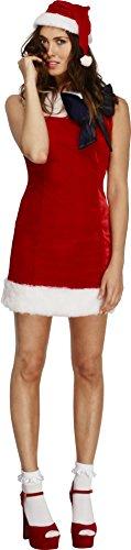 Ladies Red Fever Miss Santa Cutie Fancy Dress Costume