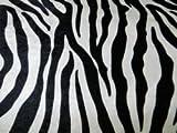 PANNESAMT Samt Zebra Stoff bedruckt Meterware