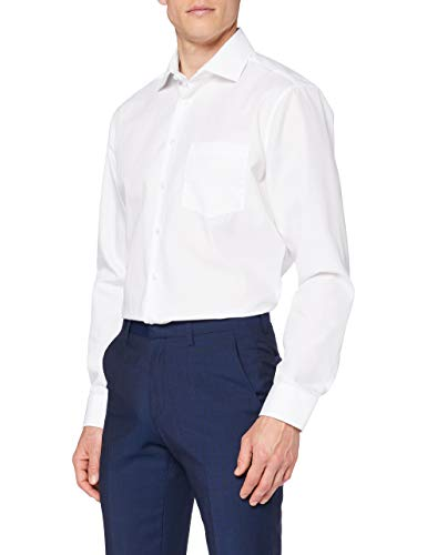 Seidensticker Herren Business Hemd Regular Fit Langarm, Weiß (01 Weiß), 42