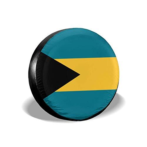 Copertura della Ruota di scorta Bandiera delle Bahamas Proteggi Ruota Copertone per Pneumatici in Poliestere da 16 ''