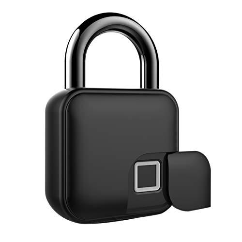 Hangslot met vinger-print, Smart Lock, diefstalbeveiliging, keyless biometric lock, veiligheidsslot, USB-oplading, geschikt voor huisdeur, rugzak, koffer, fiets, fitnessstudio, 1