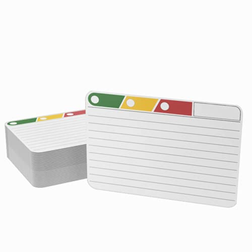 Clever Gadgets 300 fichas con sistema de aprendizaje de 3 niveles, formato ideal (tamaño de tarjeta) entre A7 y A8, 190 g,...
