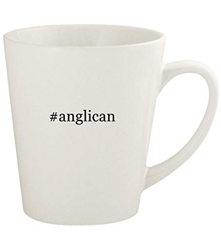 #anglican - 12oz Hashtag Ceramic Latte Coffee Mug Cup, White