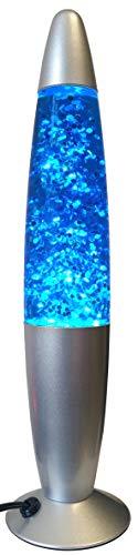 Lampada Lava Brillantini Glitter BLU