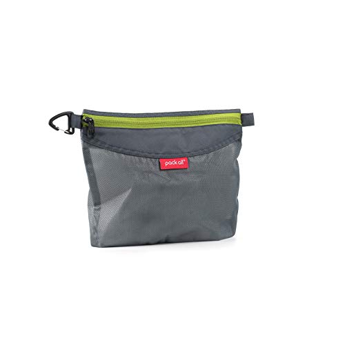 pack all Water-resistant Material Zipper Pouch, Mesh Zipper Bags for Storage, Travel, Office (Gray, Medium)