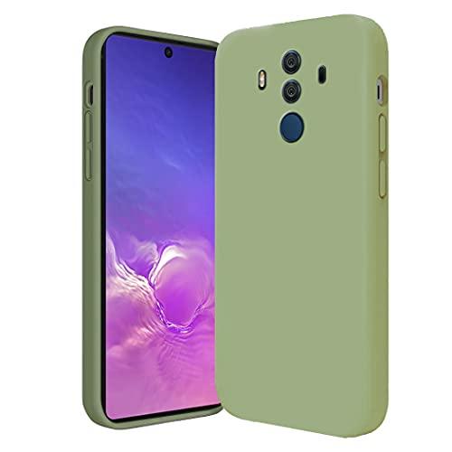 Compatibile con Smartphone Cover Huawei Mate 10 Pro Silicone, Custodia in Huawei Mate 10 Pro Case Morbido Verde, Posteriore Antiscivolo Sottile Huawei Mate 10 Pro Cover (Verde, Huawei Mate 10 Pro)