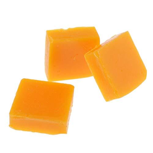 Sharplace 3 Stück Bienenwachs Block für Faden Garn Schnur Wachsen und Polieren, Nähwerkzeuge Leder Handwerk - Quadrat