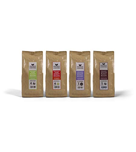 Source Climate Change Coffee, Organic Taste Collection Gift Pack with 4 Single Origin Coffees - Great Taste Award 2018 (4 x 227g Coffee Beans)