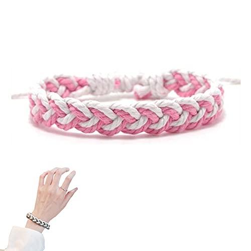 ZFAYFMA Lgbt - Pulsera de regalo para gays, collar con colgante de Yin y Yang para parejas lesbianas y gays de 60,9 cm de cadena de acero inoxidable, rosa