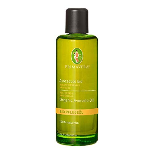 PRIMAVERA Pflegeöl Avocadoöl bio 100 ml - Naturkosmetik, Pflanzenöl, Hautöl - regenerierend, nährend bei rauer, trockener Haut - vegan