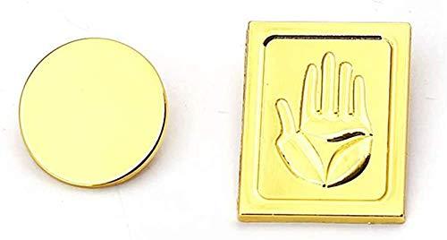 Kujo Jotaro Badges, Earrings, Hat JoJo's Bizarre Adventure Golden Pins Cosplay Metal Badge for Cap Accessory (Pins)