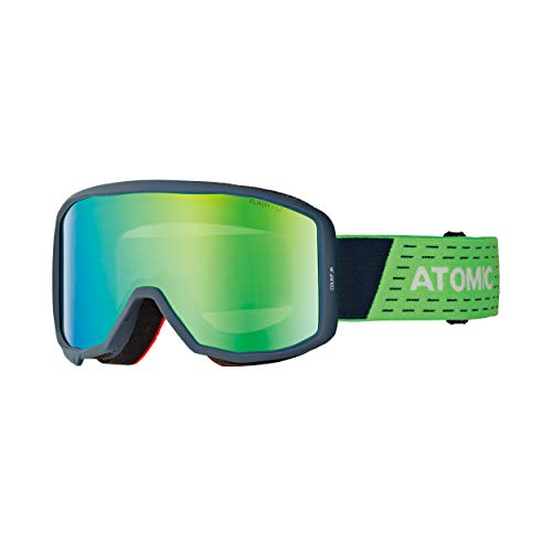 ATOMIC Unisex Jugend Count JR Cylindrical Goggles, Blau-Grün/Grün Flash, One Size