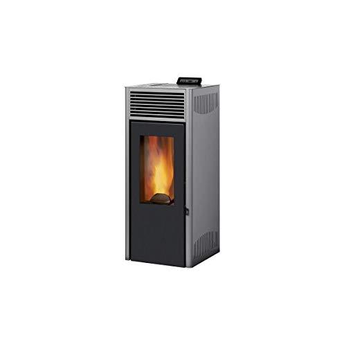 Invicta Poêle à granulés Nola 7 Gris - Acier - 7 kW - Surface de Chauffe 25 à 85 m² - Flamme Verte 7 étoiles