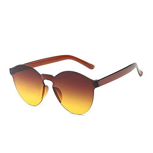 Gafas de sol Hombres Mujeres Moda Sin marco Color siamés Deportes Ciclismo Hip Hop Tendencia Gafas Bloque UV