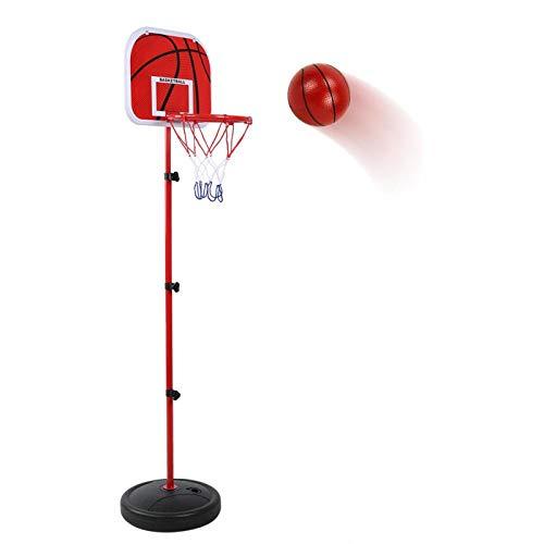 jadenzhou Soporte de Baloncesto, fácil de Transportar, Duradero, Altura Ajustable, fácil de Montar, Soporte de Baloncesto Ajustable, Exterior para el hogar