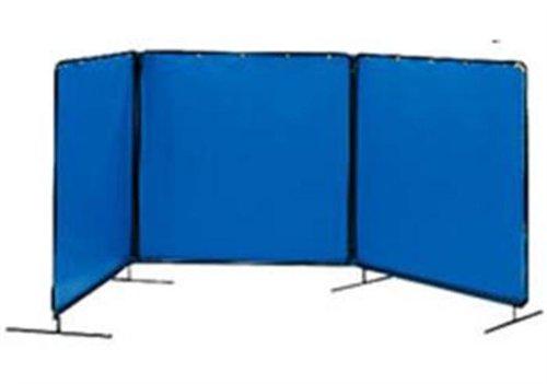 Tillman 6043555 5'X5' 14mil. 3 Panel Blue Vinyl Welding Curtain with Frame