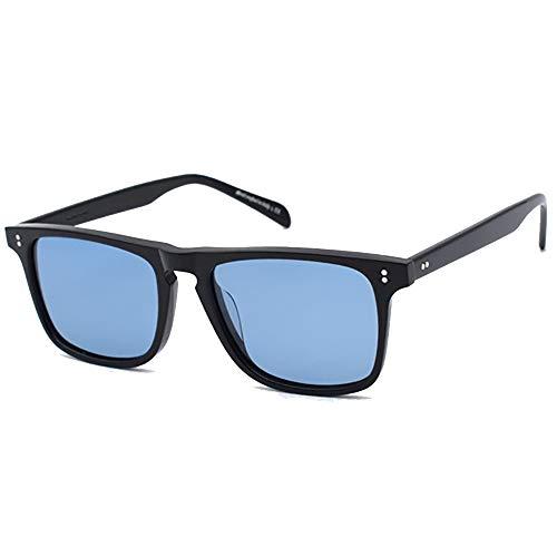 SHEEN KELLY Gafas de sol Tony Stark, marco de plástico cuadrado polarizado para hombres y mujeres, gafas de sol clásicas Downey Iron Man, lentes de vidrio