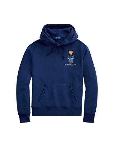 Polo Ralph Lauren Sweatshirt LS, mit Kapuze, Polobär, marineblau, für Herren, Blau X-Small