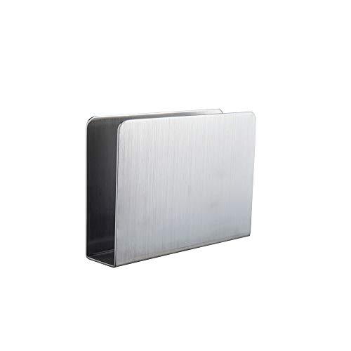 IMEEA - Servilletero moderno rectangular de acero inoxidable, dispensador de servilletas de papel decorativo para encimeras de cocina, mesas de cena, mesas de picnic