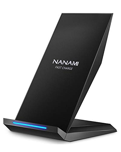 Qi 急速 ワイヤレス充電器 NANAMI Quick Charge 2.0 二つのコイル ワイヤレスチャージャー 置くだけ充電 iPhone X /iPhone 8 /iPhone 8 Plus /Galaxy S9 /S9 Plus /Note8 /S8 /S8 Plus / S7 /S7 Edge /Note 5 /S6 Edge Plus /他Qi対応機種 USB付属 qi 充電器