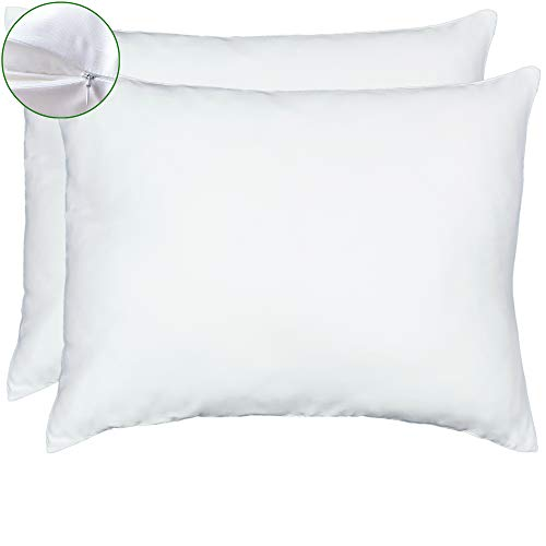 Toddler Pillow Case - 2 Pack, Fits Pillows Sized 13x18 or 14x19, Hidden Zipper Closure, Super Soft & Breathable, Toddler Pillow Case Cover for Boys Girls Kids Bedding, Bamboo Pillowcase