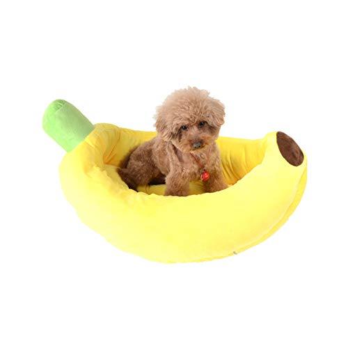 huajuan Banana Camas para Perros Cama para Perros Cama para Mascotas Cama para Mascotas con Cojín Reversible Canasta para Perros Cama Cómoda Lavable para Mascotas De Tamaño Mediano Y Grande,M