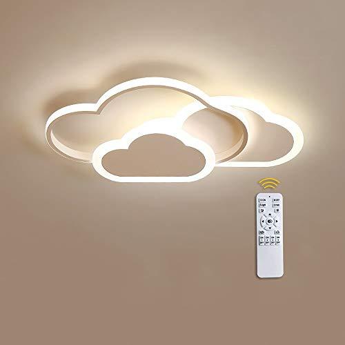 42W Lámpara De Techo LED Ultrafino 6cm Nubes Creativas Luz De Techo De Romántica Animados Plafón lámpara de habitación infantil guardería salón Niños Y Niñas Dormitorio, Regulable Con control
