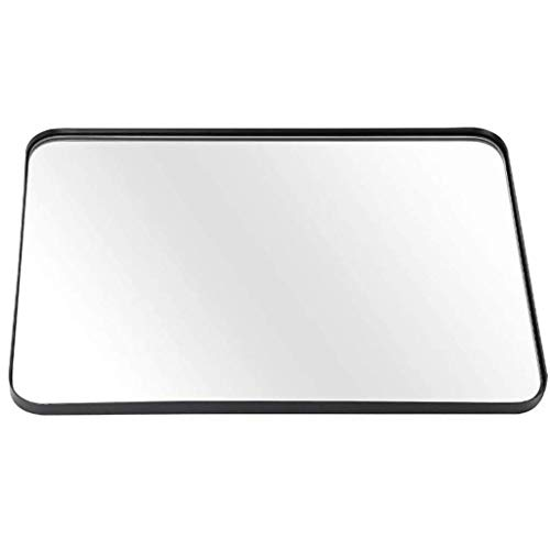 espejo de pared redondo decorativo entero barato Espejo de pared rectangular Marco de metal negro Espejos decorativos colgantes con fijaciones de pared, para sala de estar, dormitorio, panel de vidr