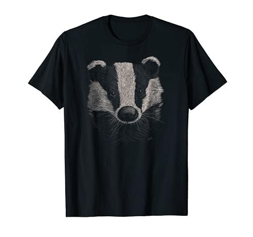 Badger Lover Regalo Animales Vida Silvestre Tejón salvaje Camiseta