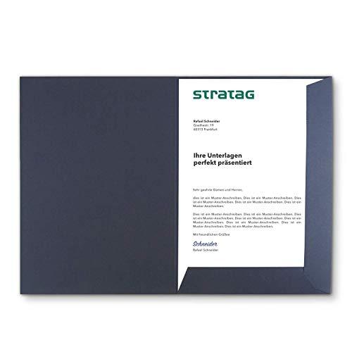 Präsentationsmappe A4 in Marineblau 20 Stück (wählbar) - erhältlich in 7 Farben - direkt vom Hersteller STRATAG - vielseitig einsetzbar für Ihre Angebote, Exposés, Projekte oder Geschäftsberichte
