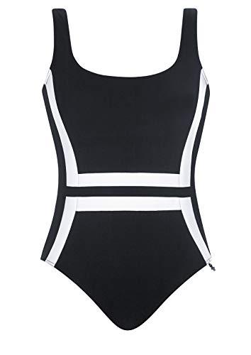 OPERA Badeanzug 3 schwarz/Weiss 44 E