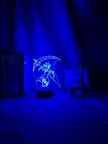 DUYAO00 Adventskalender 2021 3D night light anime soul eater Maka Albarn Figure children's LED night light for home decoration girl's room bedside table 3D light gift geschenke für frauen