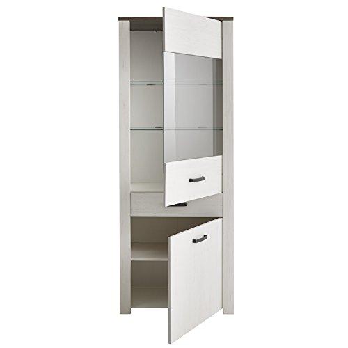 Wohnwand Anbauwand Schrankwand Mediawand / 2 Vitrinen + 1 Lowboard / Landhaus Stil / Shabby Chic / - 3