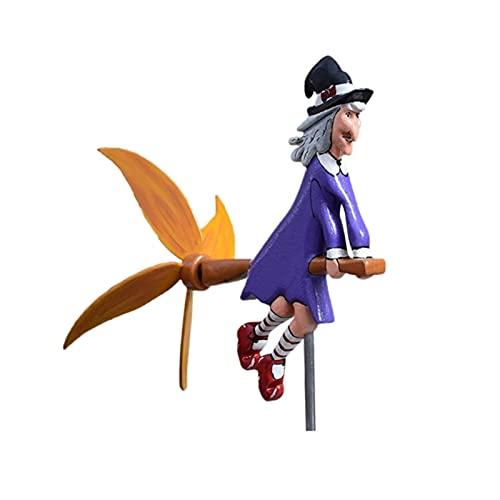 YEJIE Miniaturmodell Hölzerner Hahn rotierender Windmühle Gartenverzierung Wind Spinner Raseneinsatz Dekor Staking Yard Vertikale Terrasse Skulptur Dekorationsverzierungen...